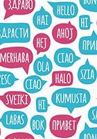 Pratbubblor som pratar olika språk